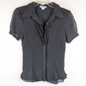 Pendleton silk button down blouse